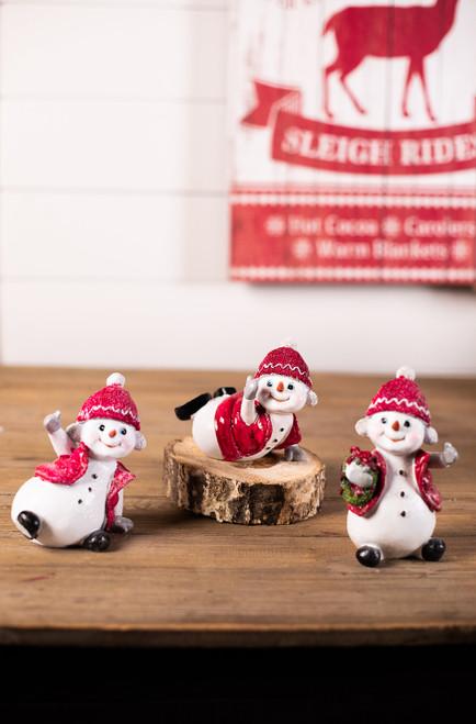 Resin Snowman Kid Figurine