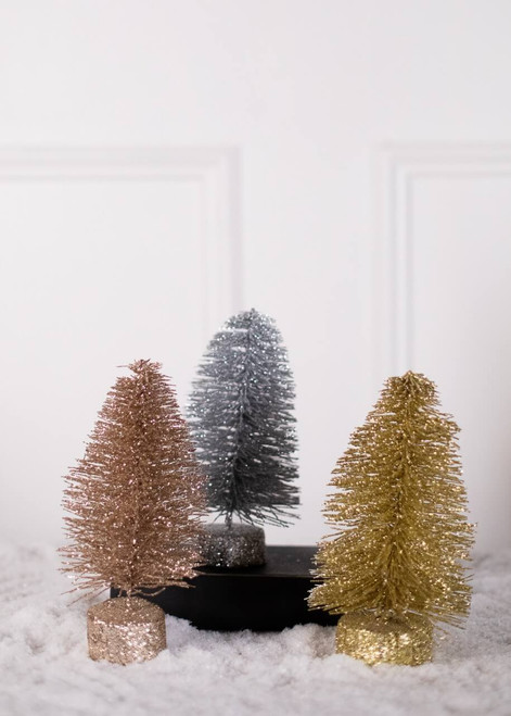 Silver, Gold and Champagne Bottlebrush Tree
