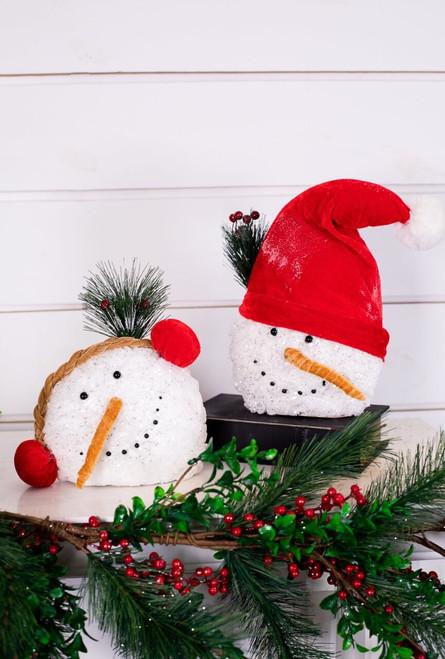 Snowman Head Christmas Décor