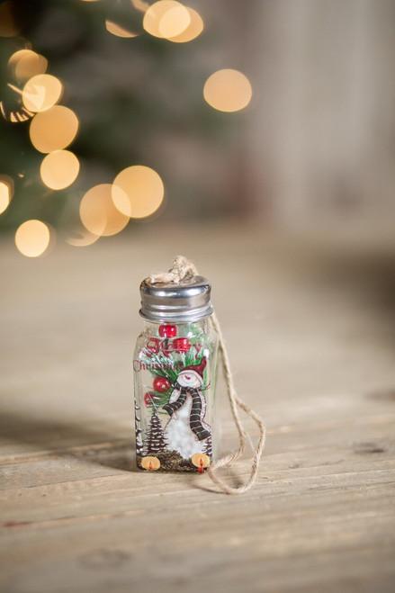 Vintage Snowman Shaker Christmas Tree Ornaments