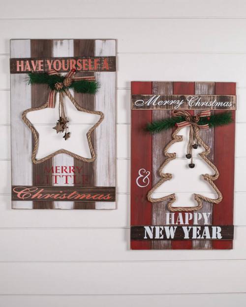 Christmas Tree / Star Wall Décor