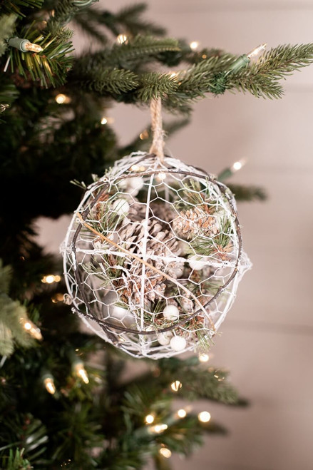 Wire Pinecone Christmas Tree Ornaments Ball
