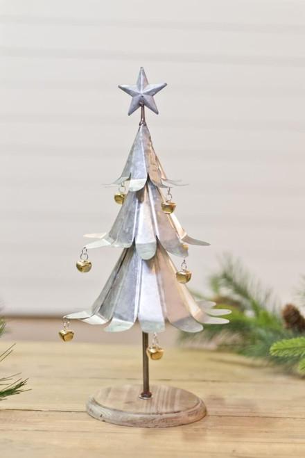 Galvanized Metal Jingle Bell Tree