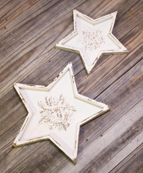Wood Star Trays Cream