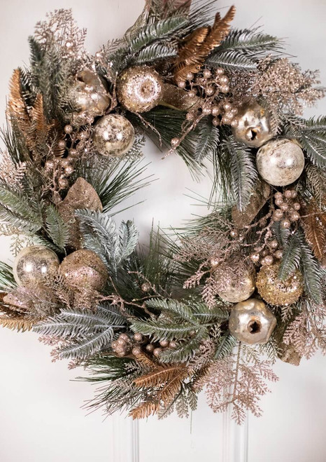 Champagne Fruit and Pine Wreath