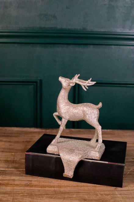 """10"""" Resin Vintage Deer Stocking Holder"""