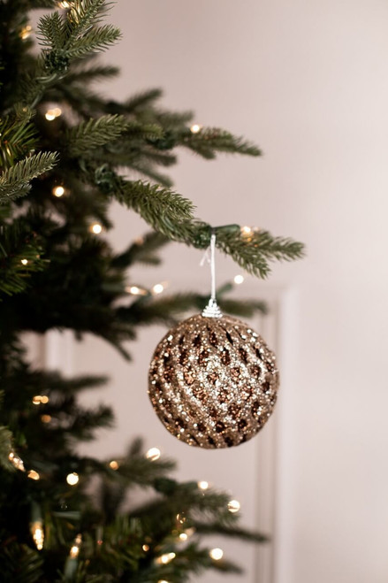 Small Chocolate and Champagne Net Ball Christmas Tree Ornaments