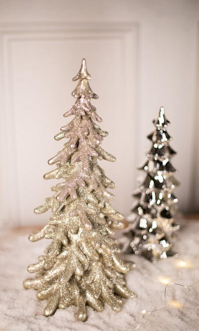 Small Champagne Resin Glitter Tree