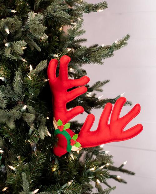 Reindeer Red Antler Pick Christmas Tree Ornaments