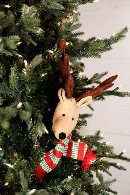 Reindeer Red Green Scarf Pick