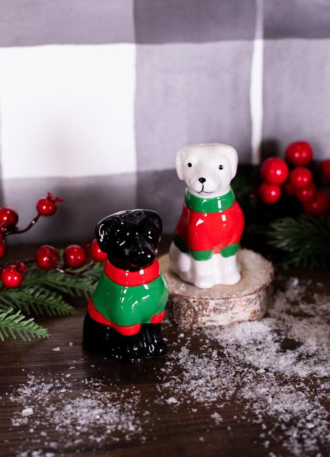 Sweater Lab Pup Salt and Pepper Shakers - Set of 2