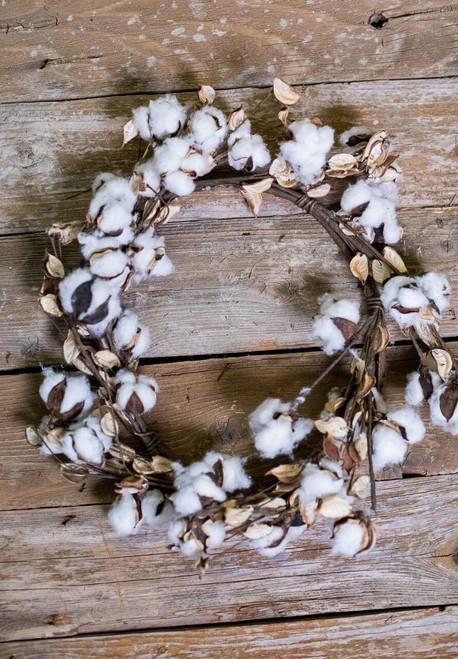 "24"" Cotton Wreath"