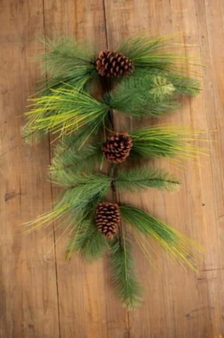 Pine Needle Teardrop with Pinecones
