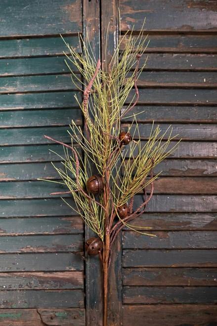 Long Needle Pine Jingle Bell Spray