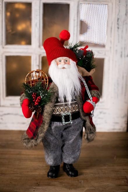 Rustic Plaid Santa Sweater