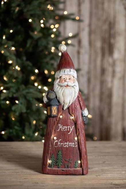 Merry Christmas Light Up Santa Figurine