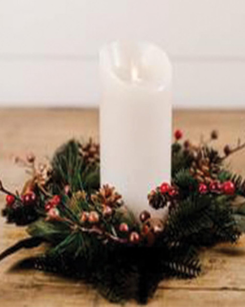 Pinecone and Bell Metal Candle Ring