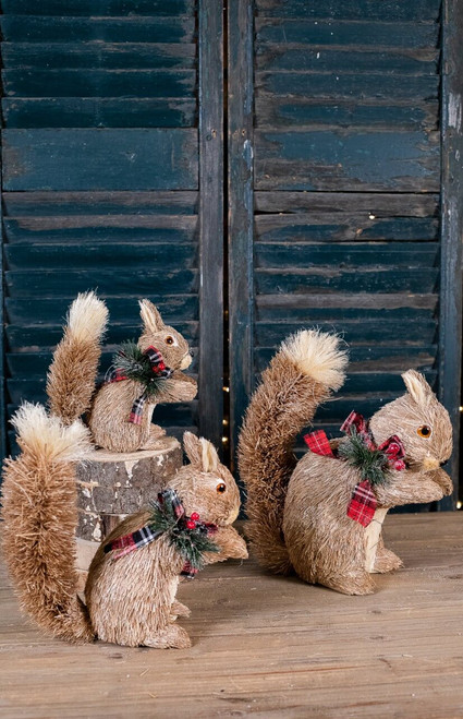 Scarved Snow Squirrels - Set of 3
