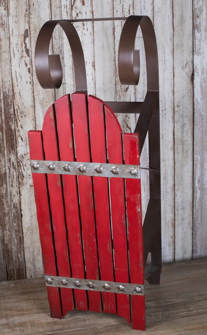 Red Rustic Sleigh