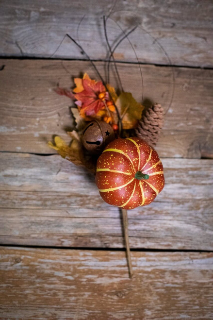Pumpkin Jingle Bell Pick