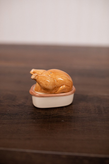 Ceramic Roasted Turkey Salt and Pepper Shakers