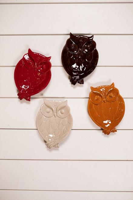 Ceramic Owl Plate