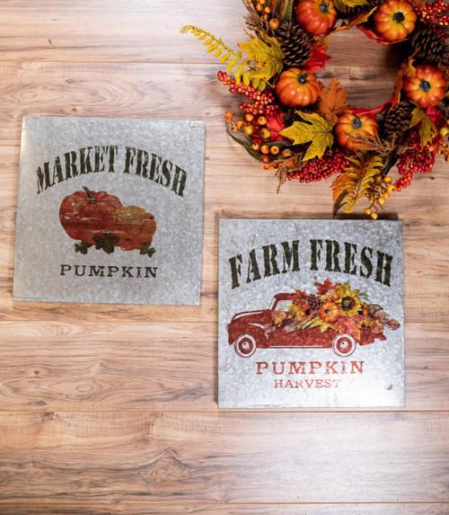 Market and Farm Fresh Tin Fall Décor