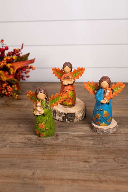 Green, Blue, and Red Resin Forest Angel