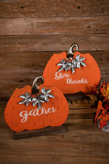 Give Thanks and Gather Wood/Metal Décor