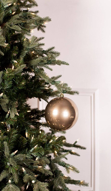 Cashmere Brown Shatterproof Christmas Tree Ornaments - 14cm Diameter