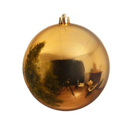 Light Gold Shatterproof Christmas Tree Ornaments - 25cm Diameter