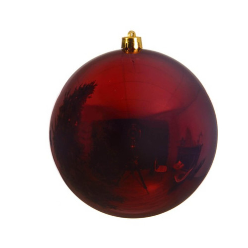 Oxblood Shatterproof Christmas Tree Ornaments - 14cm Diameter