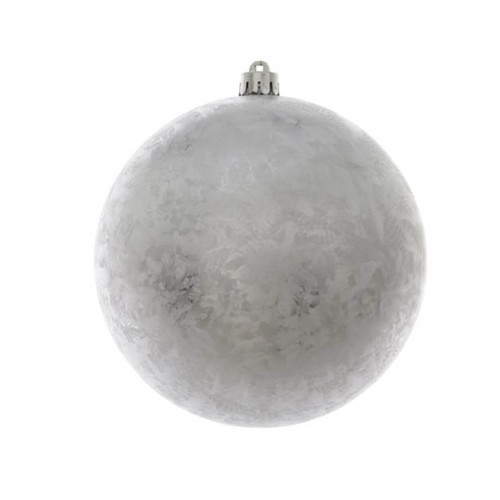 Silver Ice Lacquer Shatterproof Christmas Ornaments - 20cm Diameter