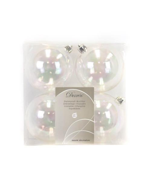 Transparent Assorted Shatterproof - Set of 4