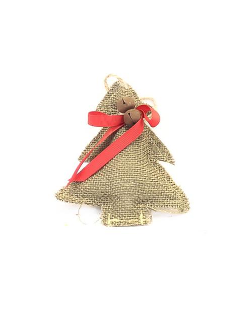 "6"" Tree Burlap Ornament"