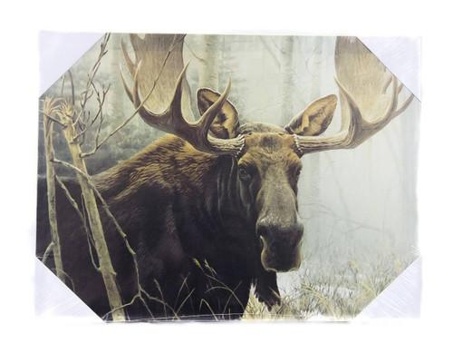 Bull Moose in Woods Print