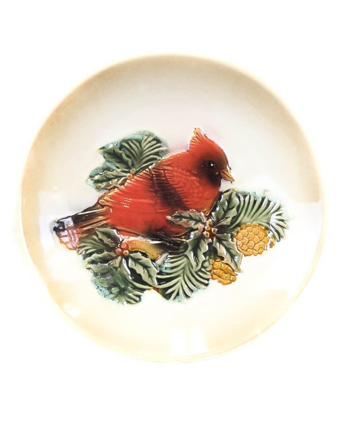 "7"" Ceramic Cardinal Plate"