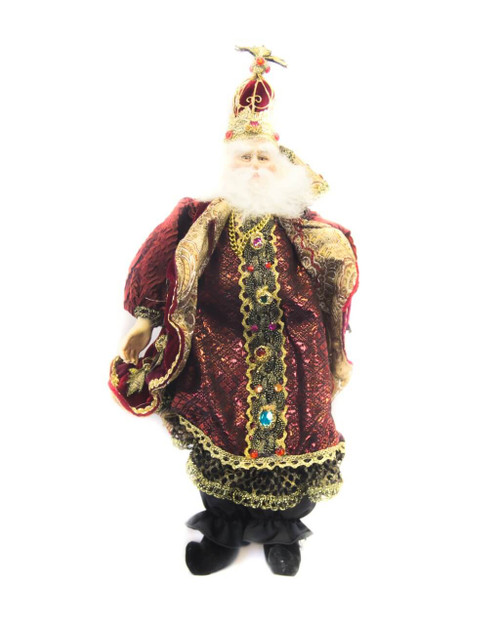 """14"""" Crowned Santa Holiday Accent"""