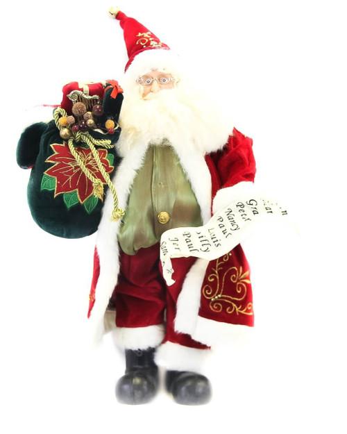 "Multicolor 18"" Standing Santa"