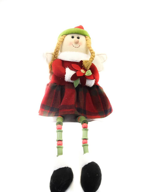 "18"" Plush Holiday Angel Shelf Sitter"