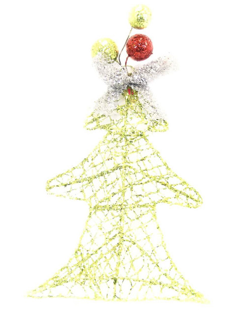 Wire Glittered Tree Hanging