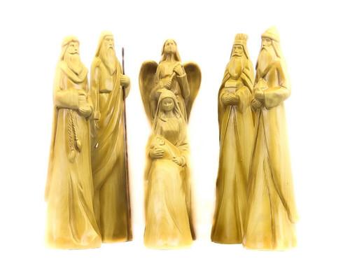 Wood Look Nativity Set - Set of 6