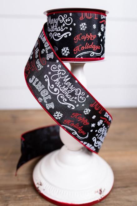 Happy Holidays Chalkboard Holiday Ribbon
