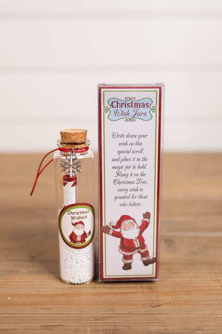 Glass Christmas Wish Jars
