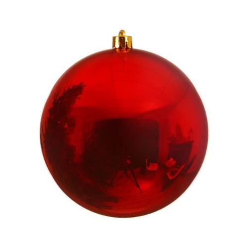 Red Shatterproof Christmas Tree Ornaments - 20cm Diameter
