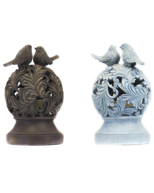 Bird Christmas Topper Blue Bronze