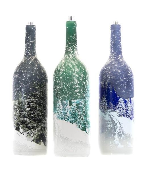 LED Lighted Decorative Glass Bottle