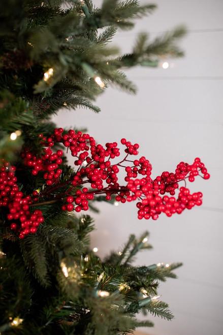 "30"" Red Holiday Berry Christmas Tree Sprays"