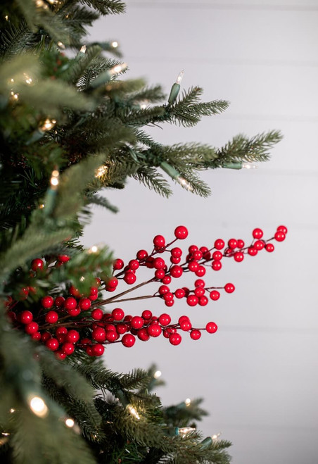 """32"""" Nandina Berry Christmas Tree Sprays"""