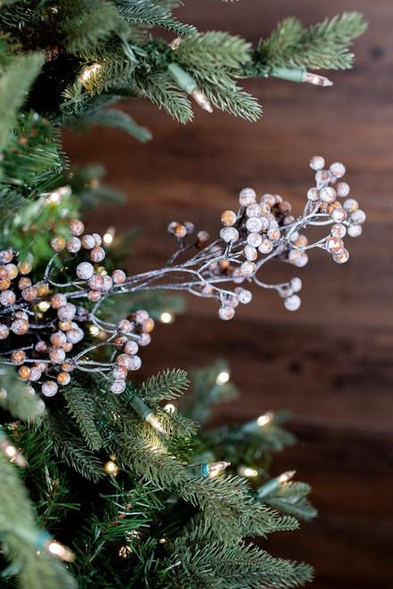 "32"" Cedar Snow Berry Christmas Tree Spray"